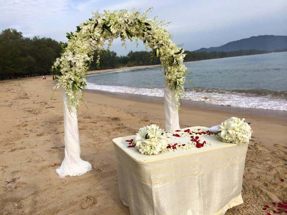 Beach Wedding Flowers Phuket Thailand