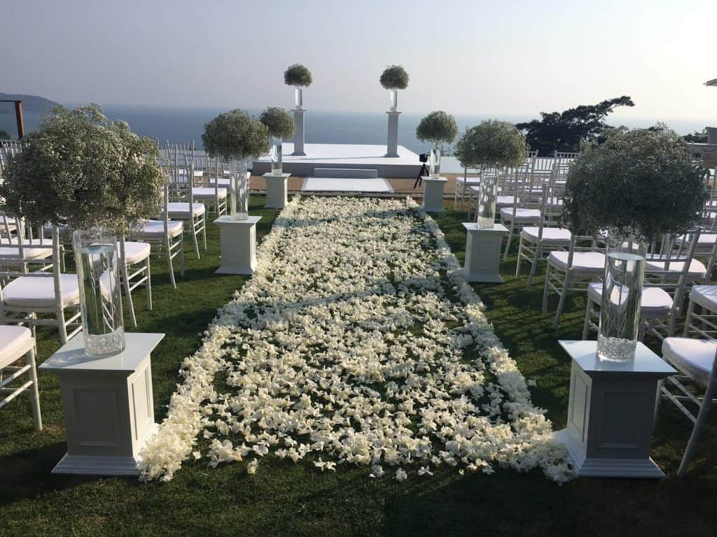 Villa Wedding Ceremony Flowers Phuket Thailand