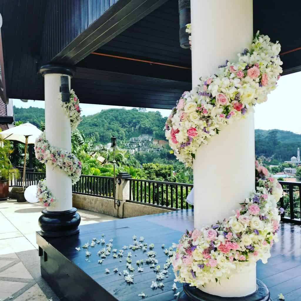 Villa Wedding Flowers Phuket Thailand