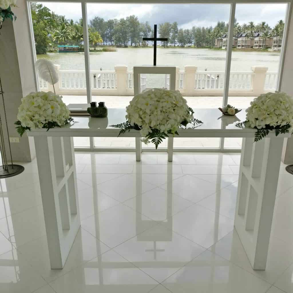 Phuket Laguna Chapel Wedding Flowers