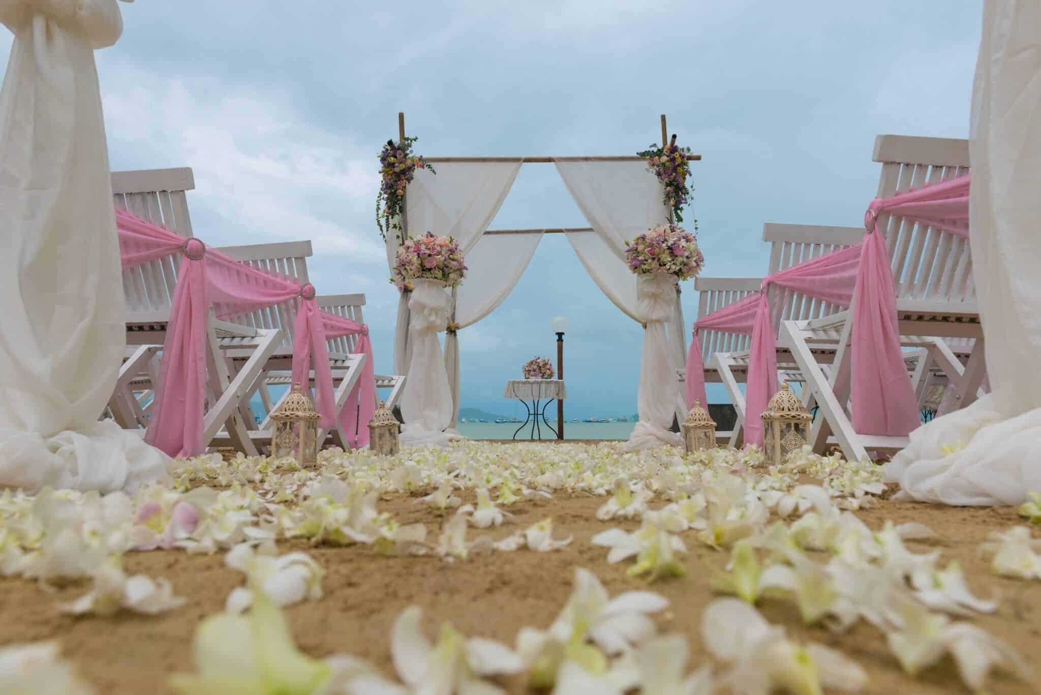 Beach Wedding Flowers Phuket Thailand