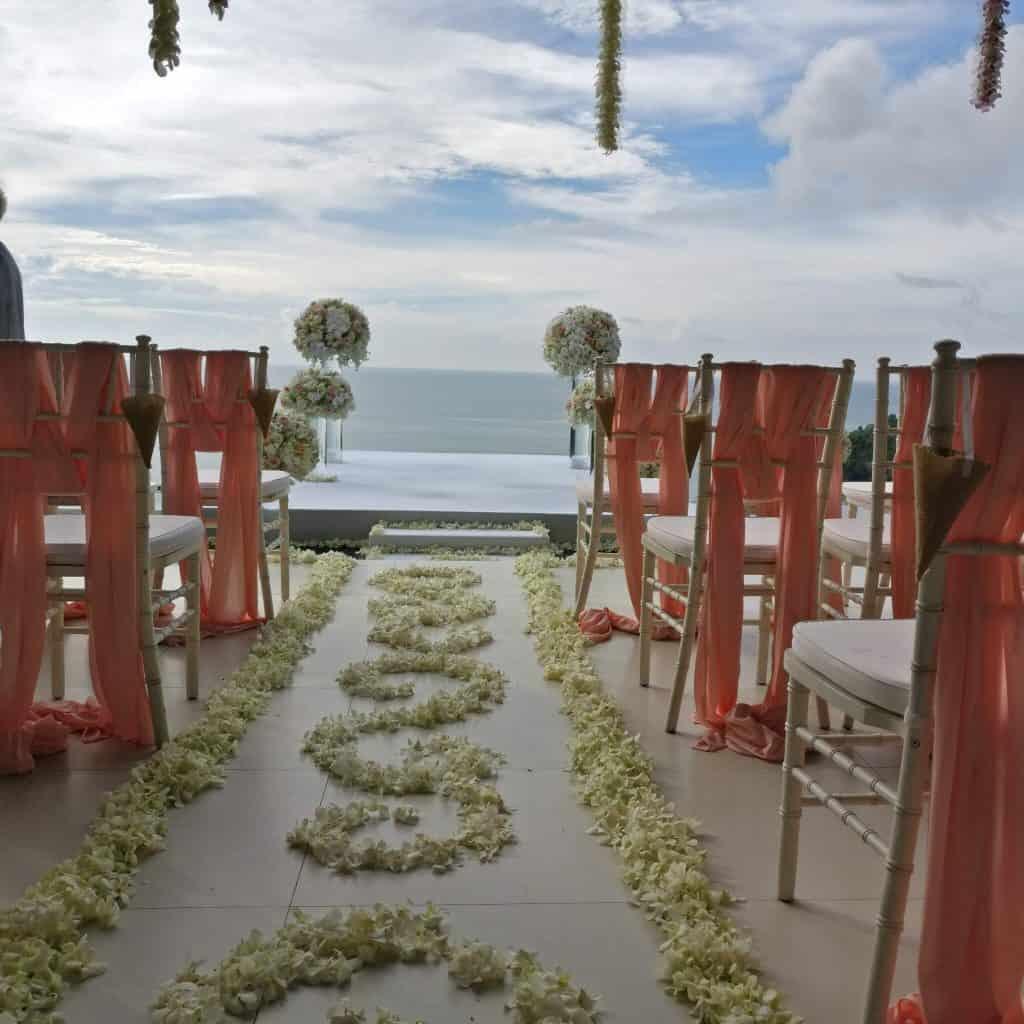 Wedding Ceremony Flowers Phuket Thailand