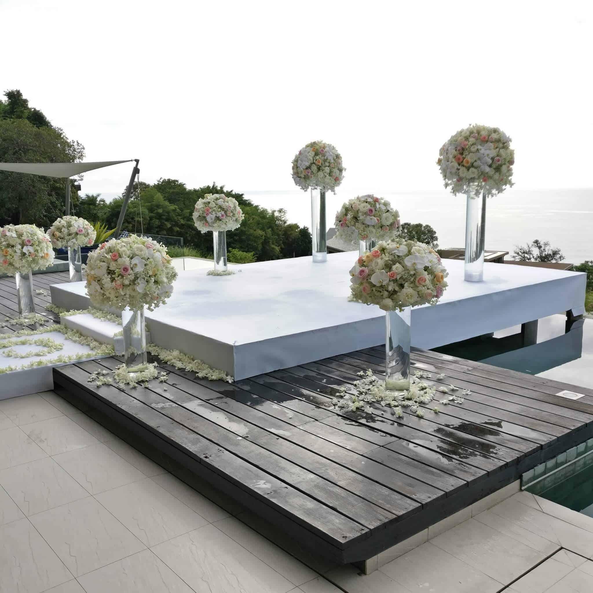 Wedding Flowers Phuket Setups