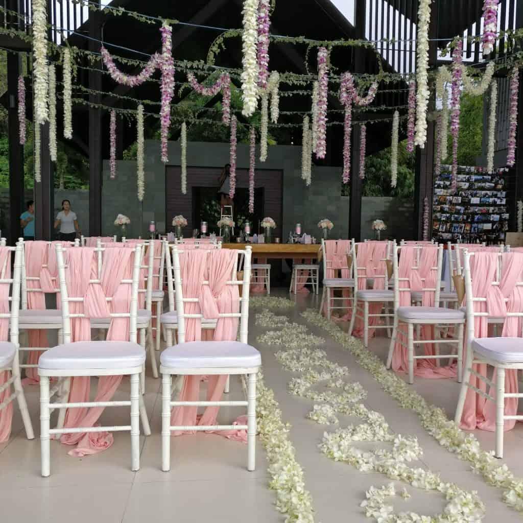 Villa Wedding Ceremony Flowers Phuket Thailand