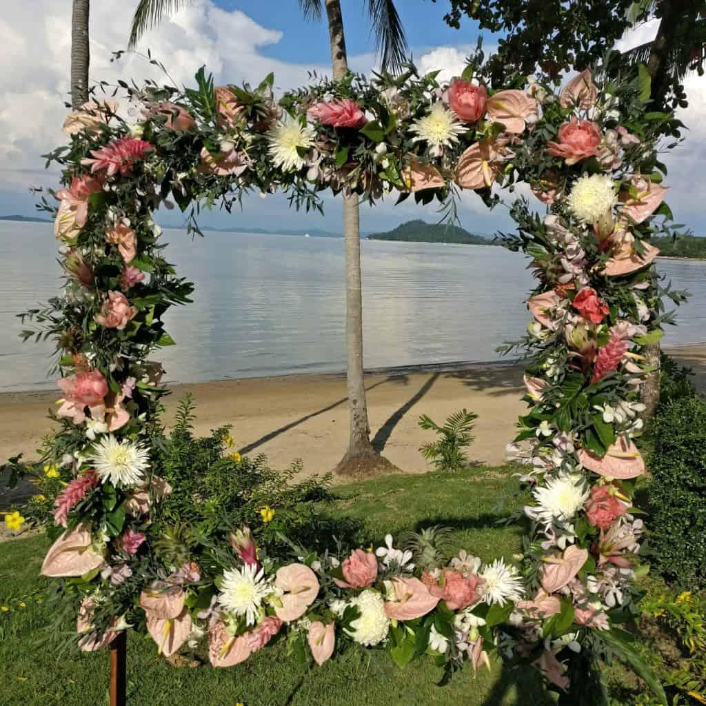 Wedding Flowers Beach Resort