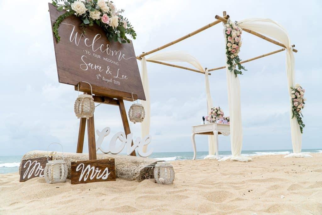 Sara And Lee's Beach Wedding - 8th August 2019 Aleenta Resort & Spa 15